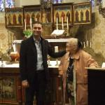 Annie Gieling met de Generaal postulator van Dora Visser Dr.Waldery Hilgeman.